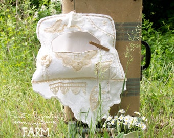 Vintage Clothespin Bag - Vintage Linens - Antique Laces - Fresh From the Line - Farmhouse Country Chic Style