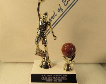 March Madness Challenge Winner 7 inch Trophy Basketball Bracket Trophy Customize Engraving