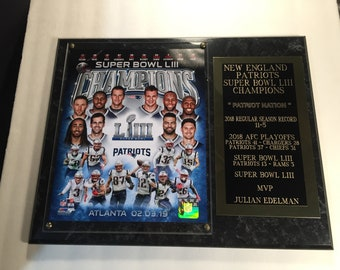 7d3168000ce New England Patriots Super Bowl LIII Tom Brady Photo Plaque Ships 2 Day  Priority Mail Gift BoxII