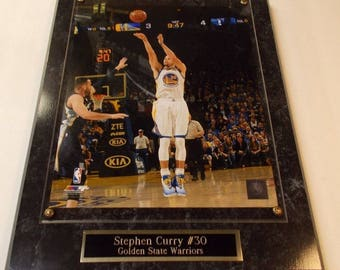 Stephen Curry Golden State Warriors Photo Plaque *Licensed* Ships 2 Day Priority Mail Gift Box