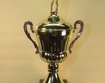 Golf Award Trophy Tournament Gold Metal Cup Marble Base Free Custom Engraving Ships 2 Day Priority Mail