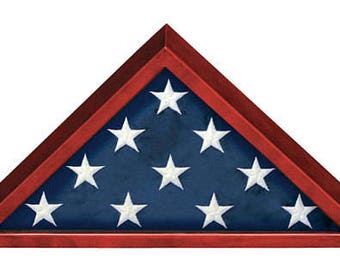 Flag Case Military Memorial Rosewood Flag Case Free Custom Engraved Nameplate Ships 2 Day Priority Mail Same Day!!
