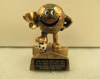 Soccer Youth Soccer Award Trophy Free Custom Engraving Ships 2 Day Mail