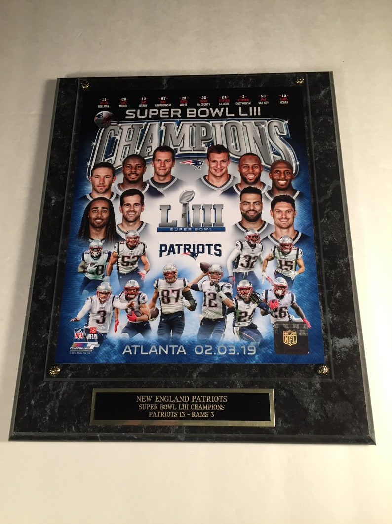 34c0395b7ce New England Patriots Super Bowl LIII Tom Brady Photo Plaque