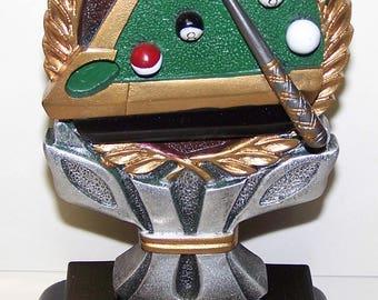 Pool Billiards Award Free Custom Engraving Ships 2 Day Priority Mail