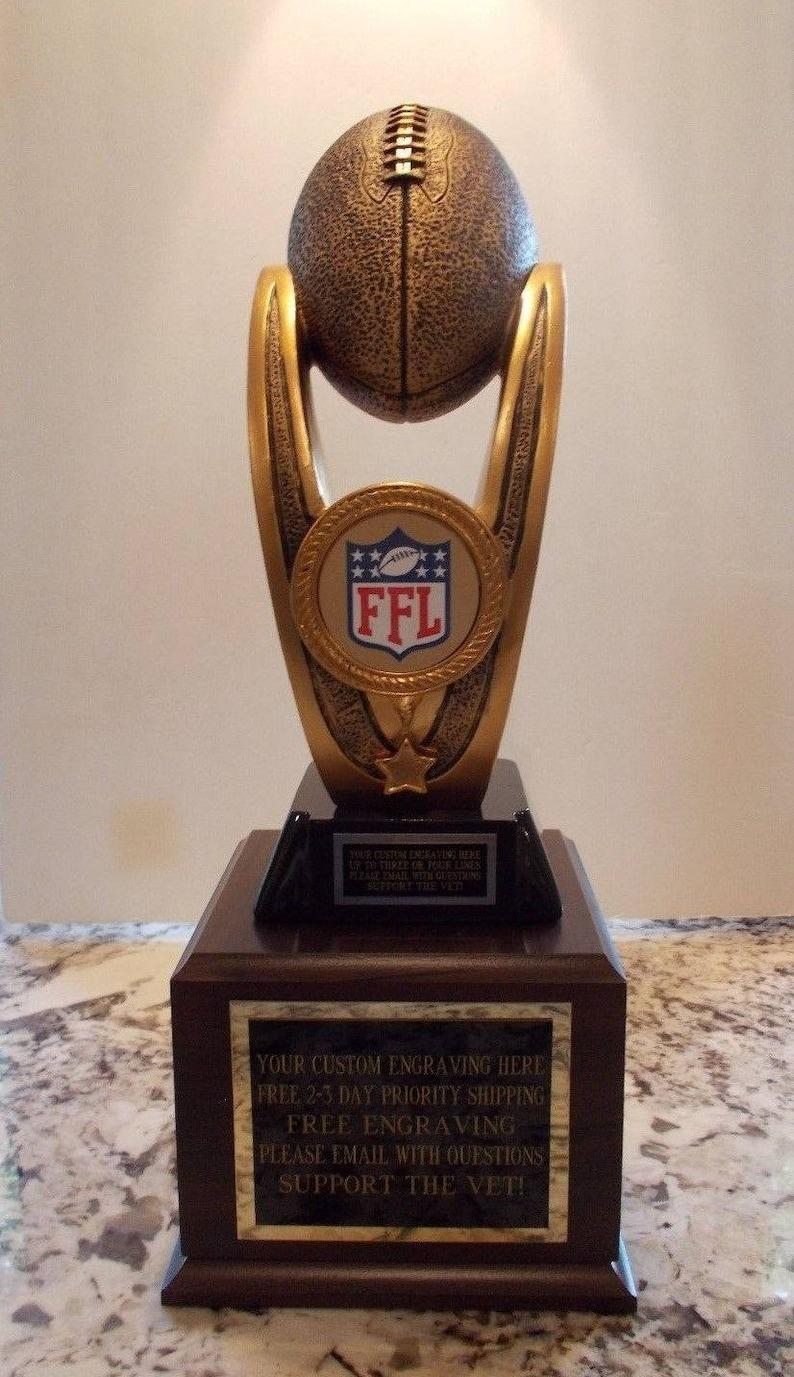 Fantasy Football Award Trophy 24 Year Perpetual Free Custom Engraving Ships 2 Day Priority Same Day!