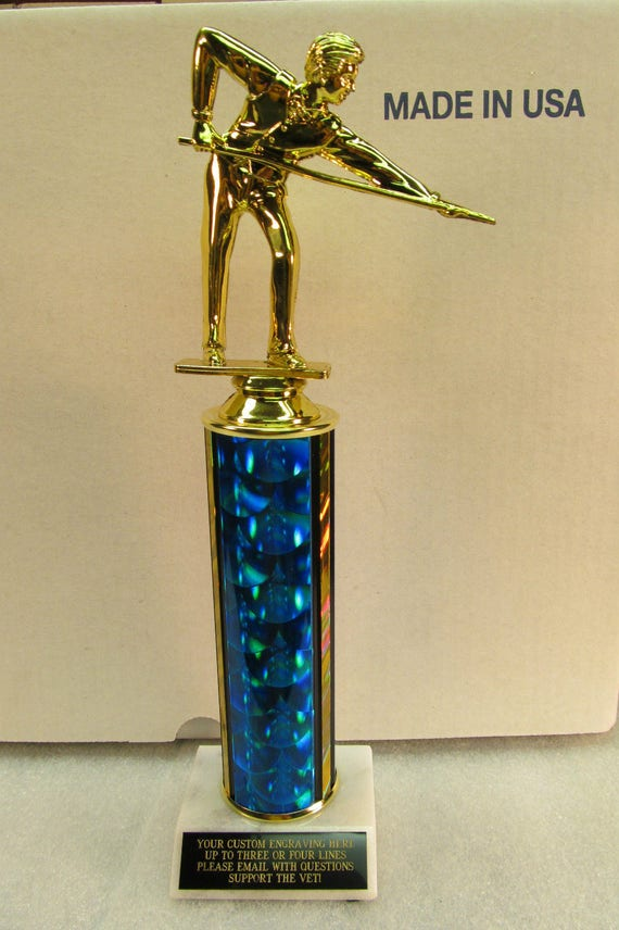 """DARTS TROPHY 12/"""" AWARD FREE ENGRAVING   M or F SHIPPED 2 DAY PRIORITY MAIL"""