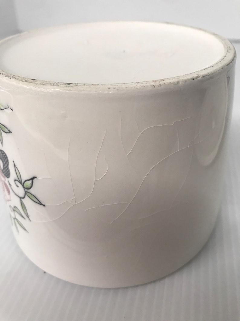 Farm Theme CandyTrinket Jar With Lid Porcelain 5 tall