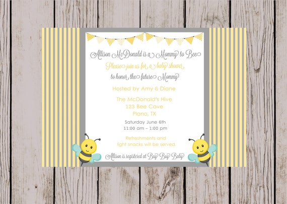 Mommy to bee invitation baby shower bee invitation baby etsy image 0 filmwisefo