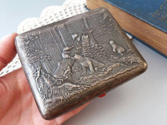 Antique cigarette box how much is it for a carton of cigarettes