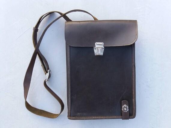 Vintage officer bag Original officer bag Military bag Genuine leather Soviet army bag Messenger bag Army officer bag Cross body bag