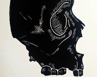 Amescream Linocut Art Print