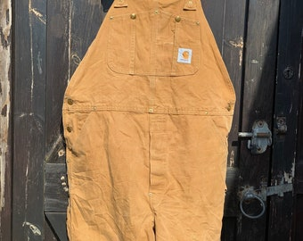 2a3415d99 Super rare Carhartt vintage knee length dungarees overalls workwear unisex