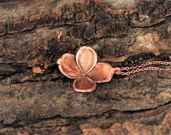 Electroformed Real Hydrangea Flower Necklace B16