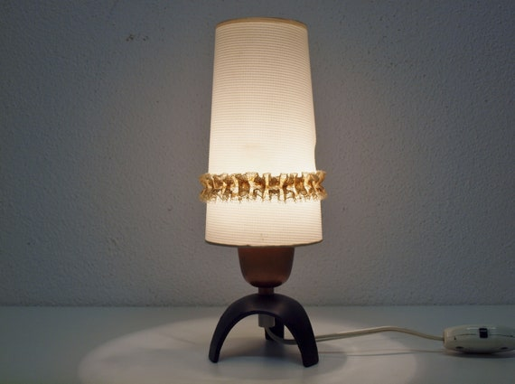 Small Bedside Lamp 70s Vintage Small Night Light 70s