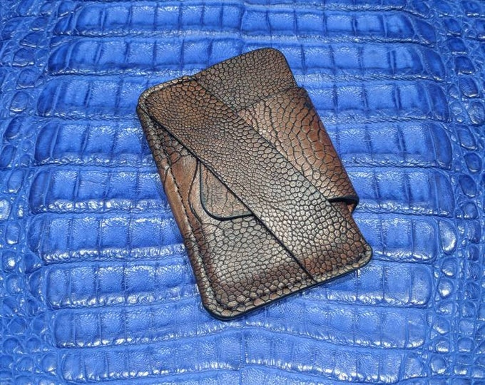 The Wraptor -Ostrich leg wallet
