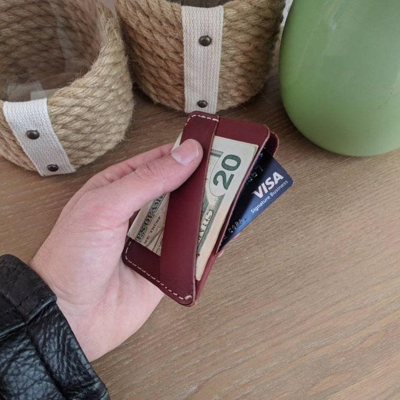 d7ba09e343 The Chapman minimalist wallet front pocket wallet leather   Etsy