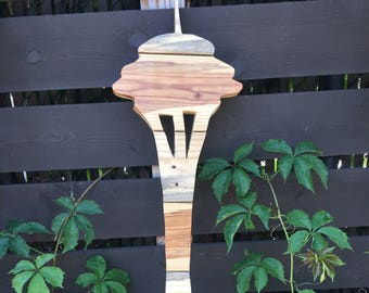Space Needle Reclaimed Wood Cutout