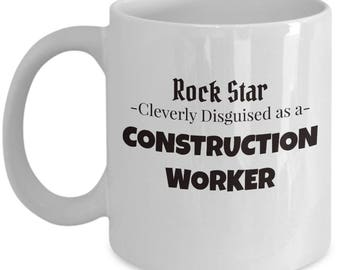 Construction Worker Gift Coffee Mug | Present for Contractor