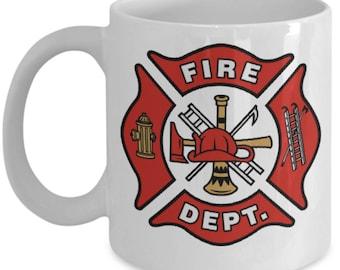 Fireman Gift - Mug with Fire Department Logo