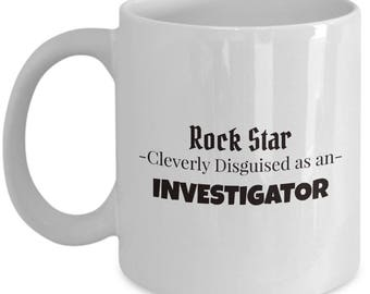 Investigator Coffee and Tea Mug | Gift for Insurance Agent | Present for Police Officer
