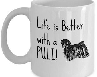 Puli Dog Mug | Gift for Puli Breed Owner | 11oz or 15oz Coffee Mug