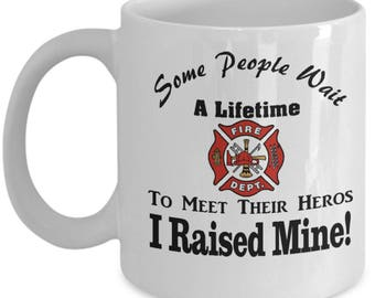 Coffee Mug for Firefighter Parents | Fireman's Mom | Firefighter Father