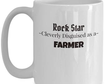 Farmer Coffee Mug | Gift for Agriculture Producer | Farmer Appreciation gift | Large 15oz Coffee Mug