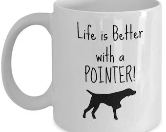 Pointer Dog Mug   Gift for Pointer Breed Owner   11oz or 15oz Coffee Mug