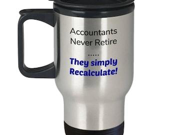 Accountant retirement gift | Travel mug for accountant