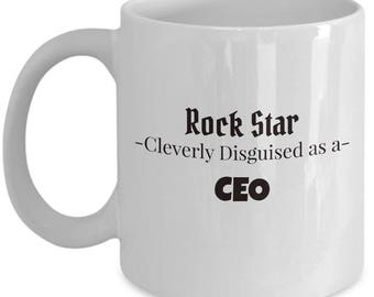 CEO Gift Coffee Mug | Present for Manager | Chief Executive Officer