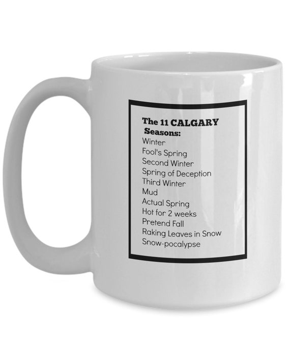 by Main and Local 100/% Ceramic Hand Painted The Curling Rock Mug Designed in Canada Souvenir and Funny Gift