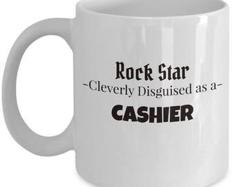 Cashier Gift Coffee Mug | Present for Cashier