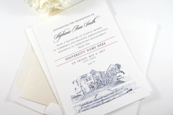 University Of Washington Graduation Announcement Grad Etsy