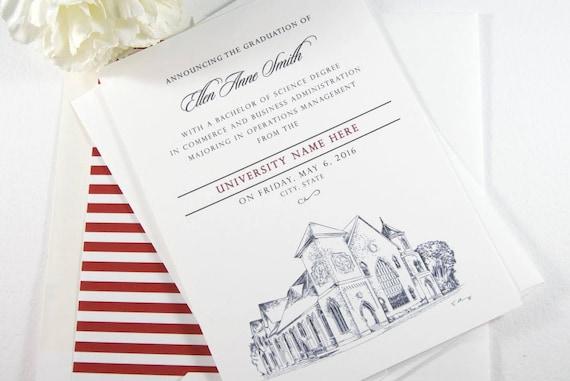 University of houston graduation announcement houston texas etsy image 0 filmwisefo
