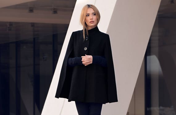 Wool Black Elegant Womens Blazer