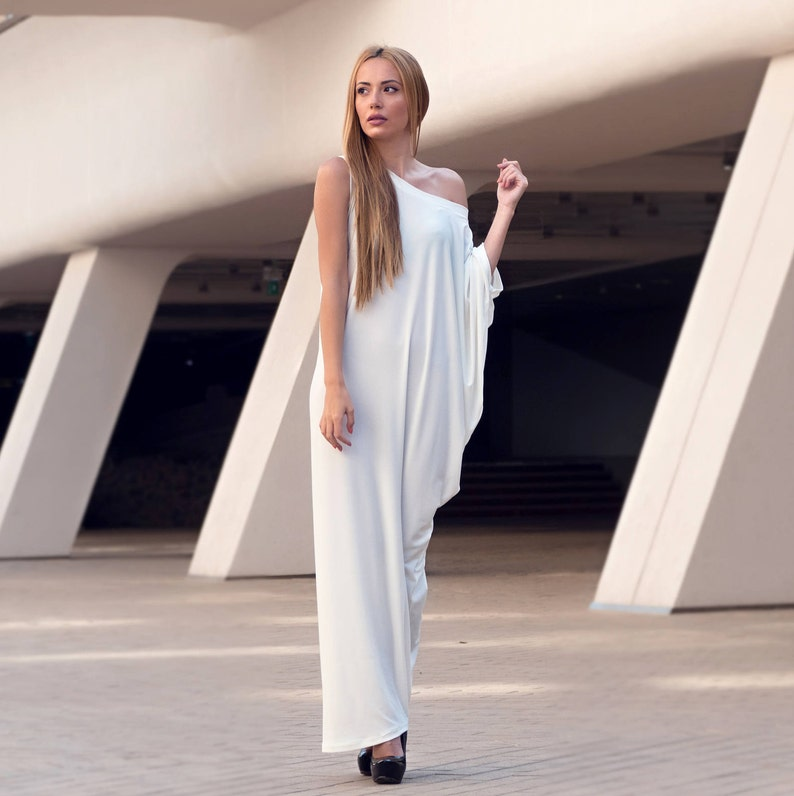 79b996894e6 Off White Kaftan Maxi Dress Long Plus Size Dress