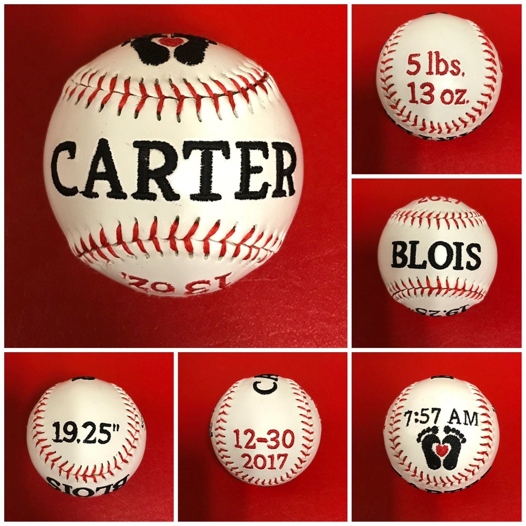 16bacbc4d Personalized Embroidered Baseballs and Softballs