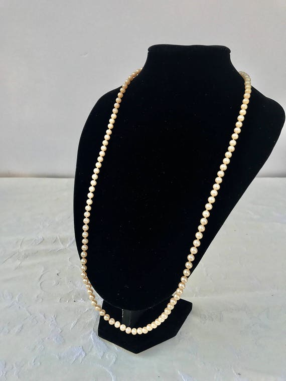 Vintage Marvella Knotted Faux Pearl Necklace - image 2