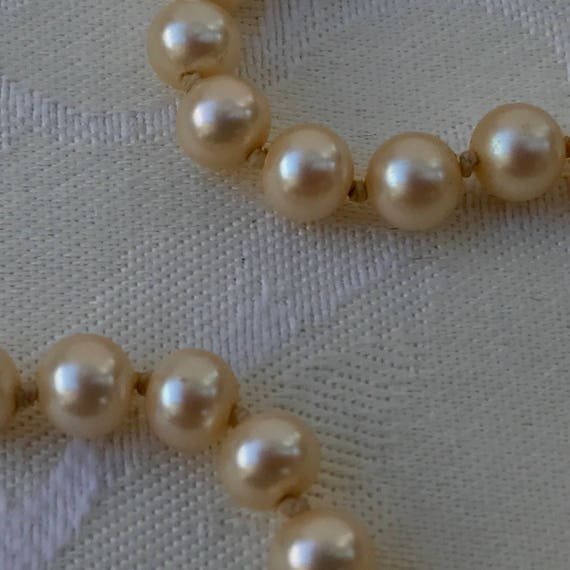 Vintage Marvella Knotted Faux Pearl Necklace - image 7