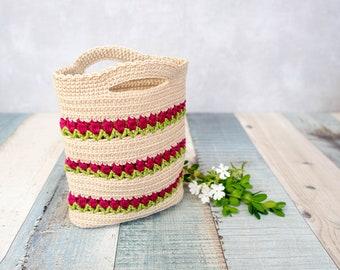 DE Anleitung - Tulpen Tasche - Häkeln, Einkaufsnetz, nachhaltig Einkaufen (deutsch)