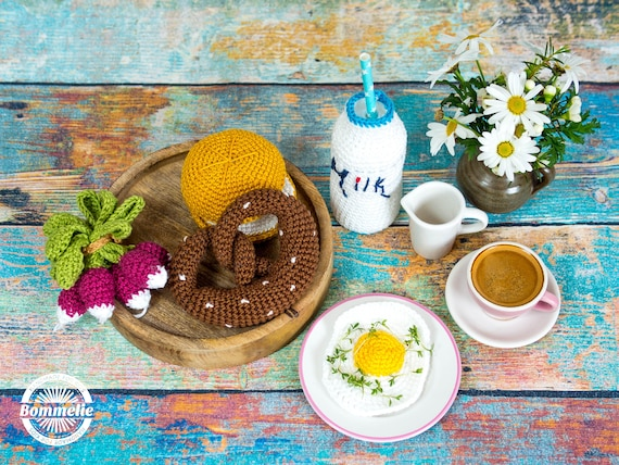 Deen Anleitung Frühstück Brezel Brötchen Ei Radi Milch Etsy