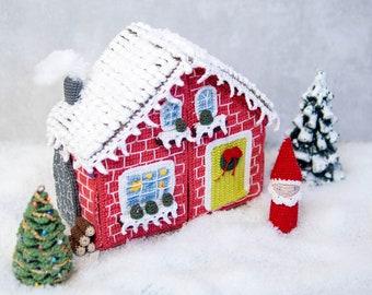 DE Anleitung Dekoration Weihnachtswichtel Haus - Weihnachten, Puppenhaus, Amigurumi, Kinder, Spielzeug, Montessori (deutsch)