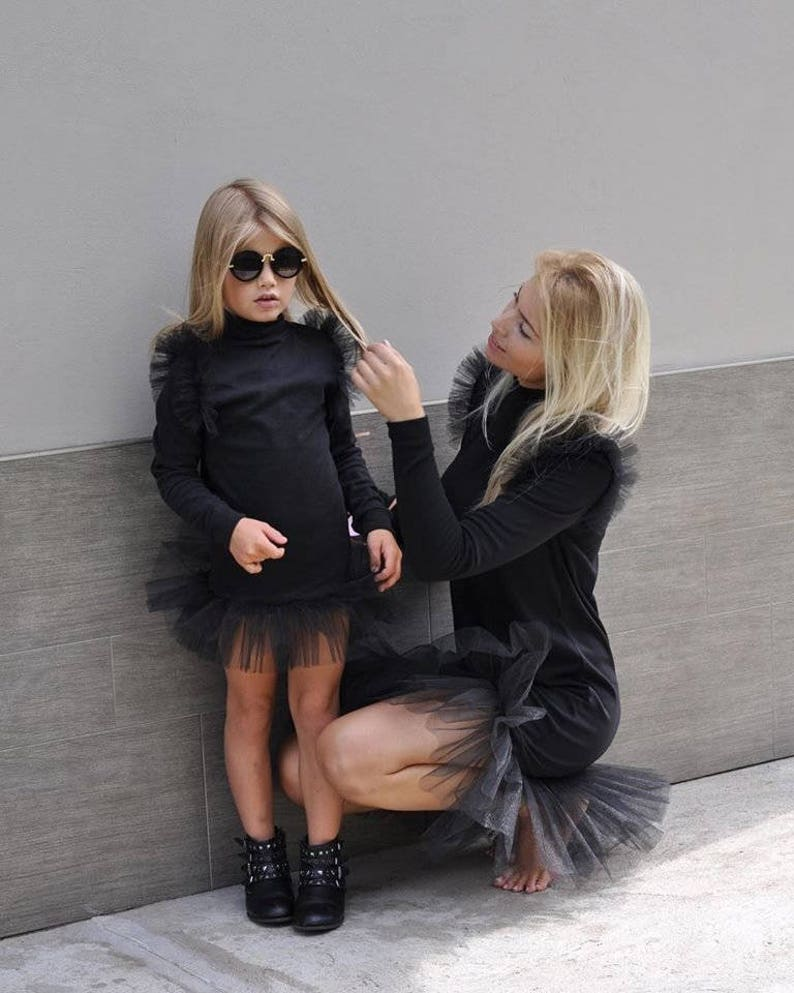 Black Mommy and Me matching dress dresses outfits Mother  227f965ba