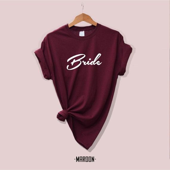 Crew neck engagement shirts bride Feminist shirts Boss mom Unisex Mrs shirts