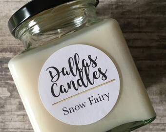 Snow Fairy - candle - Dallas candles - snow fairy candles - soy wax candle