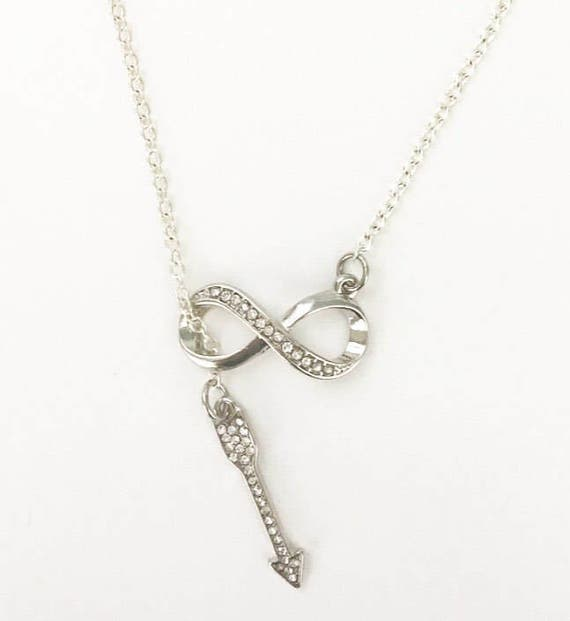 Infinity Necklace Infinity Jewelry Infinity Symbol Necklace Etsy
