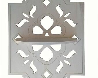 Shabby DIY perforated decorative shelf