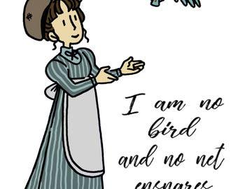 Jane Eyre Greetings Card