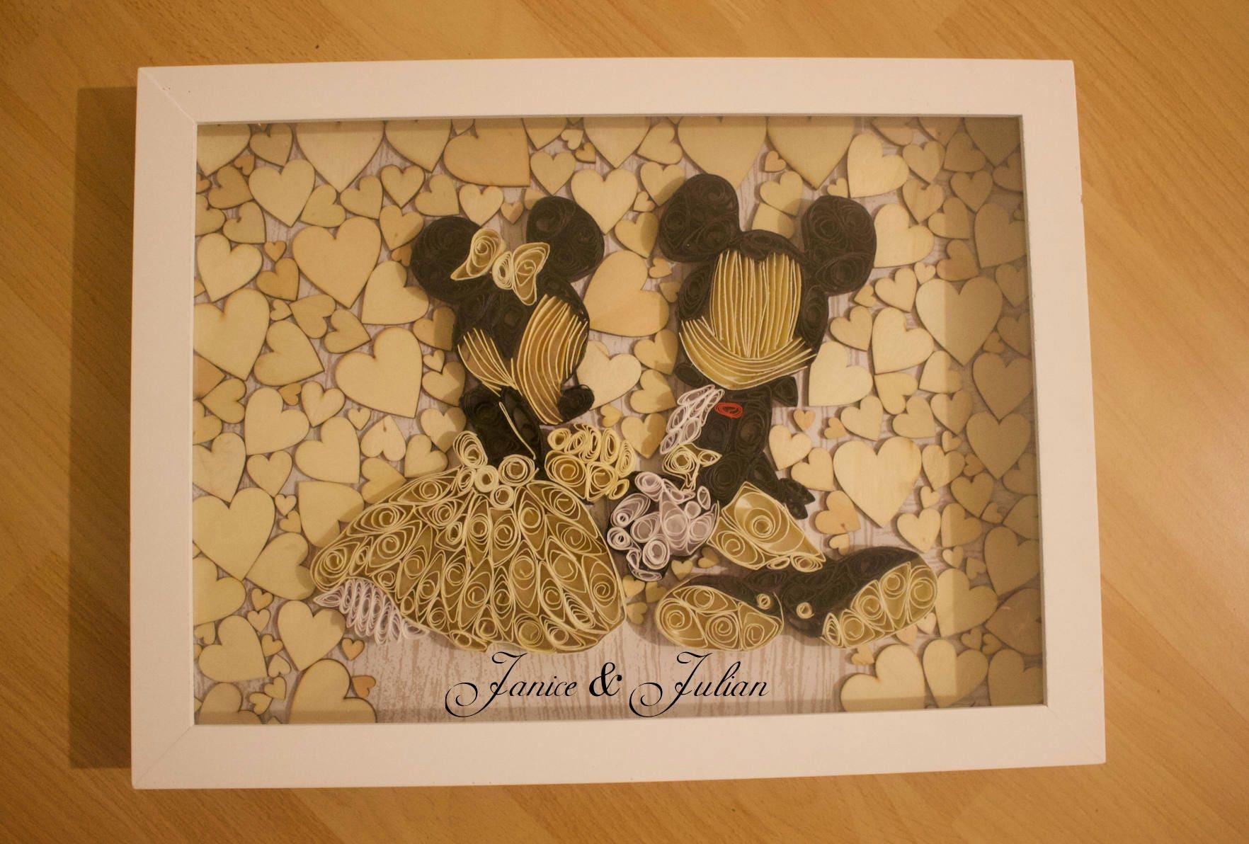 Hochzeit Gästebuch Alternativen / Disney Hochzeit / Mickey und | Etsy
